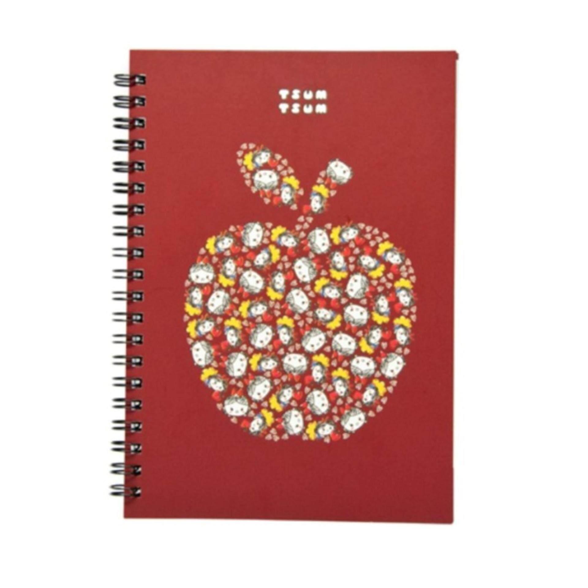 Disney Tsum Tsum Notebook - Dark Red Colour