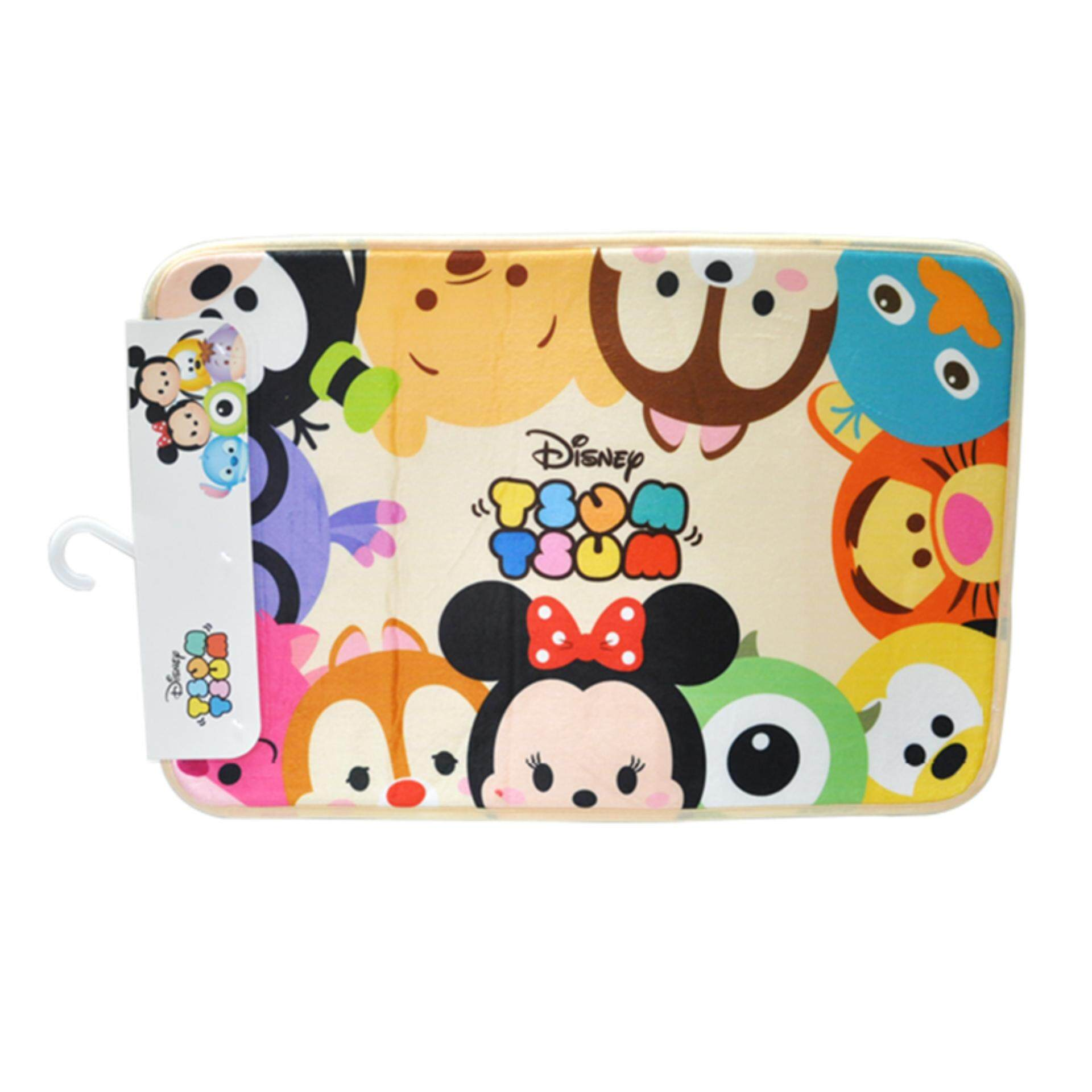 Disney Tsum Tsum Square Floor Mat - Beige Colour