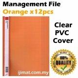 East-File 1807 PVC Management File A4 Good Quality (12pcs/pack) (Orange)