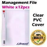 East-File 1807 PVC Management File A4 Good Quality (12pcs/pack) (White)