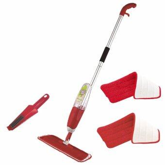Harga Easy Spray Mop with 2 Microfibre Refill Mop Pads (Free CleaningBrush) RED