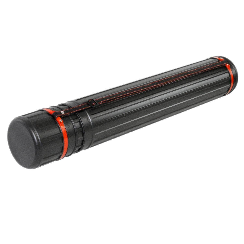 Universal Expandable Storage Drawing Tube Inside Plan Holder Diameter 8cm (Black)