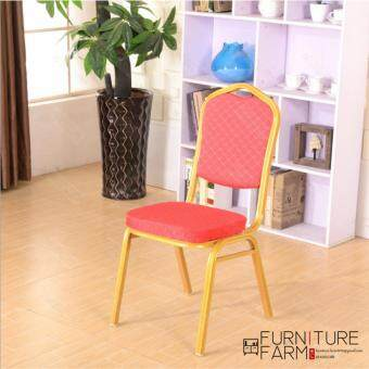 Harga F & F: Classy Elegant Multi Usage Golden Plated Banquet Chair - Red