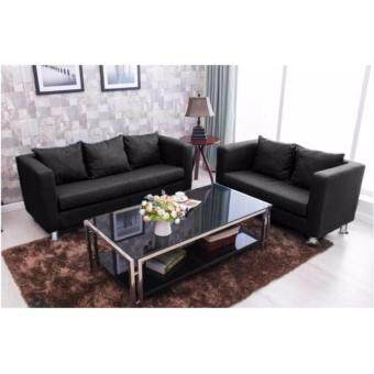 Harga F&F: LOUISSE Sitting Room Concept Furniture (2) Seater VelvetLax & Soothed Settee - Sofa Design