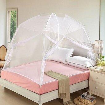 Foldable Self Standing Mosquito Dome Net Double Door With Carry Bag(White)