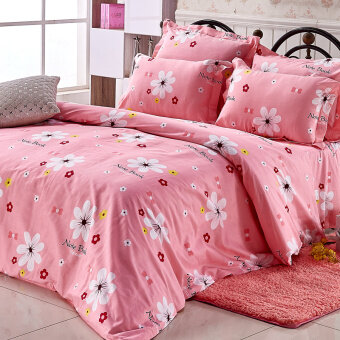 Harga Four sets of can be with three cotton pillowcase 1.8 bed sheets
