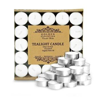 Harga GE Candle Works 100 PCS Unscented Palm Tealight Candle (White)