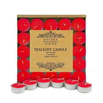 Harga GE Candle Works 50 PCS Unscented Palm Tealight Candle (Red)
