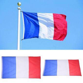 GETEK French flag 3'x5' Polyester French FLAG France Country Soccer Outdoor Banner Grommets