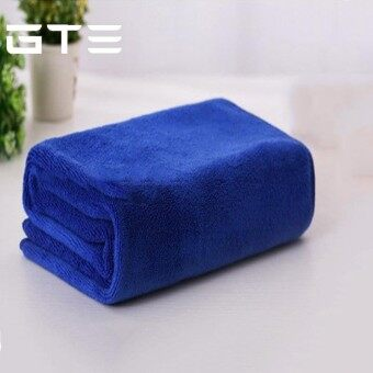 GTE 2pcs Absorbent Microfiber Towel Bath Quick Drying Washcloth Bath Wet Body (140cmx70cm) - Blue