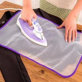 Harga Heat Resistant Ironing Cloth Protective Insulation Pad-hot HomeIroning Mat Mesh White 40*60cm