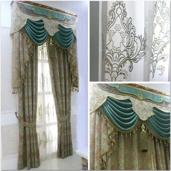 High-end European chenille Jacquard curtain