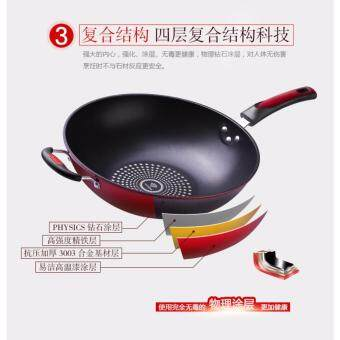 Harga High Quality Non-Stick Star Frying Cooking Wok Pan 32cm