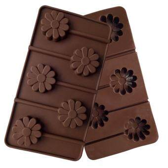 HIKUUI 5 Holes Flowers Shape Lollipop Mold Kitchen Diy Silicone Ice Cube Mould Baking Tools Chocolate