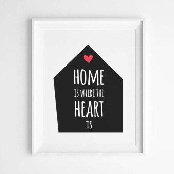 Harga Home Quote Wall Art Print Poster, Wall Pictures For HomeDecoration, Frame Not Include Canvas Art FA381