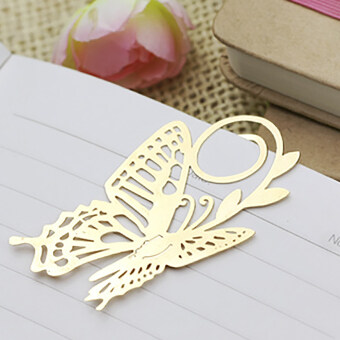 Harga Moonar Novelty Mini Hollow Golden Metal Bookmarks Memo Marker Label