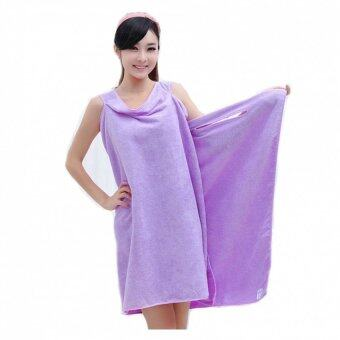 Harga Magic Multi Sexy Women Beach Bath Towel Travel Body Wrap Absorbent Microfiber Shower Bath Drying Terry Towel Magic Multi Sexy Women Beach Bath Towel Wearable Magic Towel(Purple)