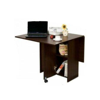 Harga Foldable Dining Table Dark Brown