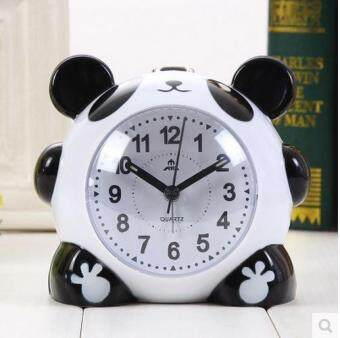 Harga Very cute cartoon panda alarm clock There are lights cartoon clock Girls and children like clocks