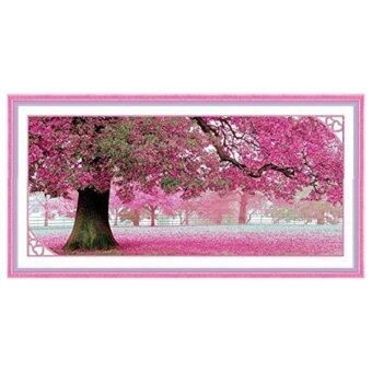 Harga Cherry Blossom Tree Cross Stitch Embroidery Kit