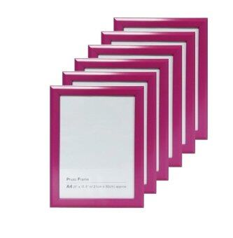 Harga PREMO Colorful Photo Frame-A4-Pink (6pcs)