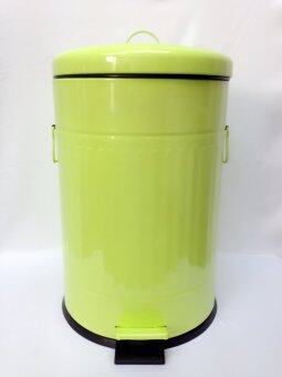 Harga Metal Dustbin 20L Green