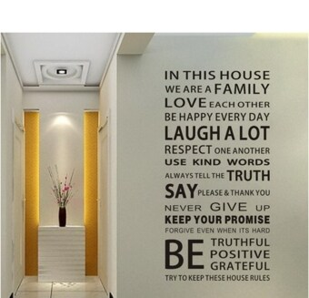 Harga Wall Sticker - House Rules
