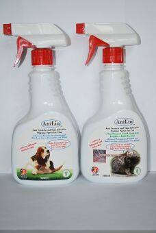 Harga AniLin Anti-Scratch and Skin Infection Organic Spray -- One for Dog and One for Cat (500ML x 2)