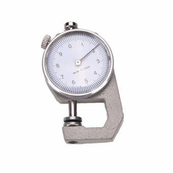 Harga 0-10mm Leather Thickness Metal Gauge Tester Measure Leathercraft Tool Craft