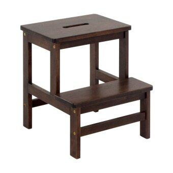 Harga HGF-SM-001CP Wooden Step Stool Chair/ stepladder Cappuccino 2 step