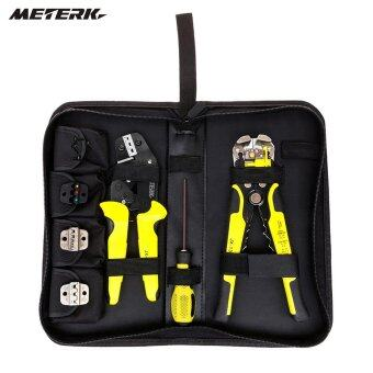 Harga Meterk 4 In 1 Wire Crimpers Engineering Ratcheting Terminal Crimping Pliers Bootlace Ferrule Crimper Tool Cord With Wire Stripper