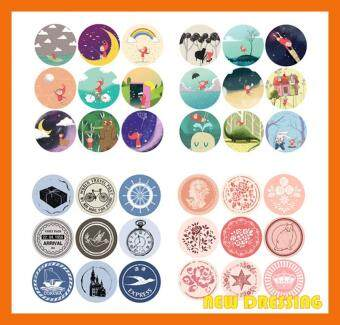 Harga Assorted Round Sticker Japan Style