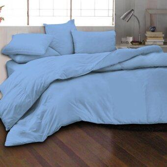 Harga Essina 100% Cotton 620TC Fitted Bed sheet set + Quilt Cover - Candies Bondi Blue