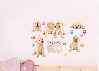 Harga 51x38cm Home Decor Removable Vinyl Wall Sticker Mural Decal Art – Pet dog