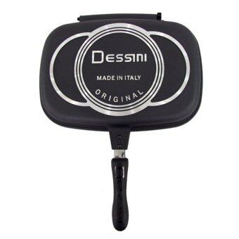 Harga Dessini Double Sided Pressure Grill Frying Pan 36CM