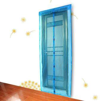 Harga Mesh Screen Anti Mosquito Pest Door Curtain Net with Magnets 210 * 90cm Blue