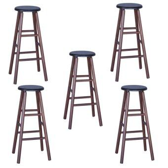 Harga HGF ST-R700CP-5 High Bar Stool Cappuccino Set of 5