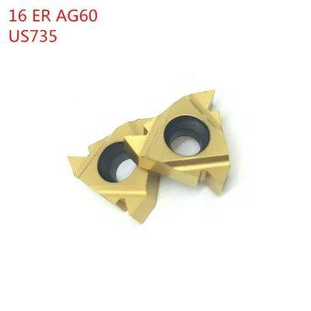 Harga 10Pcs 16ER AG60 US735 Thread Turning Tools Carbide inserts Cutting Tool CNC Tools Lathe cutter tools 16ERAG60