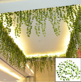 Harga 1Pc 8.2 Feet Artificial Hanging Ivy Leaf Leaves Plants Vine Fake Foliage Decor