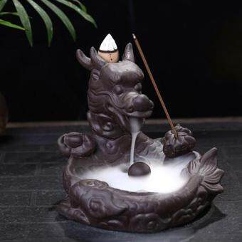 Harga Small Dragon Tower Incense Smoke Backflow Incense Burner Dragon Carp Art Craft Cone Furnace