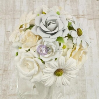 Harga Audrey Mulberry Paper Flowers .75 To 1.5 16/Pkg White