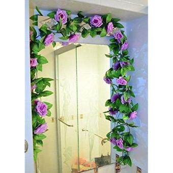 Harga Garland Home Wall Party Decor Wedding Garden Decoration Bouquet House Decor 240cm Light Purple