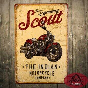 Harga T-ray The Legendary SCOUT Indian Motorcycle Company Metal Tin Sign Rocker Wall Decor