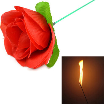 Harga Stage Close Up Magic Trick Torch To Rose Tricks Fire Flame Appearing Flower-