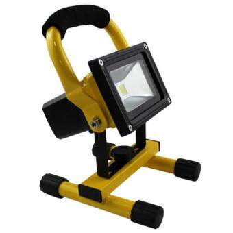 Harga LED Rechargeable 20W Outdoor Spot Light Flood Light Waterproof Working Light (Pure White)
