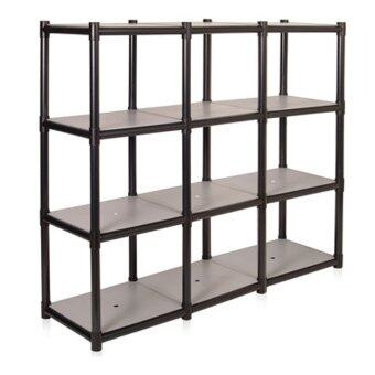 Harga 3 ROW 4 TIER IDEAL RACK PLASTIC SHELVING 130