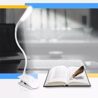 Harga AFAITH Desk Lamp,LED Table lamp with Clip 360 Degree Ajustable Flexible Clamp Lamps Touch Sensitive Bedside Table Lamp Small Reading Lights Used for Bed, Study and Office-White RM022