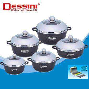 Harga NaVa Dessini 10 PCS Aluminium Die-Cast Soup Pot Casserole Imperial Set
