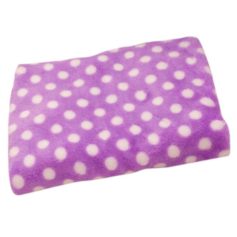 Harga Gracefulvara Warm Cozy Soft Dot Quilt For Lovely Pets Dog Cat Fleece Handcrafted Blanket Mat (Purple)