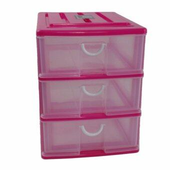 Harga Plastic Semi Transparent A4 Size 3 Tier Drawer